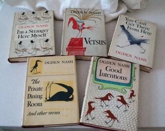 Maurice Sendak Illustrated Dustjackets. 5 Ogden Nash Humorous Poetry Books. Hardcover