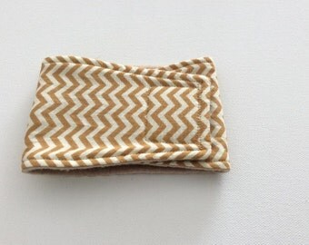 Male Dog Diaper - Male Dog Belly Band- Belly Wrap - Light Brown and Cream Chevron - Available in all Sizes