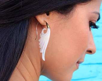 Tribalstyle, Brass, Shell, Mother of Pearl, Sterling Silver - Elegant Wings