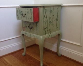 Hand Painted Chinoiserie Table