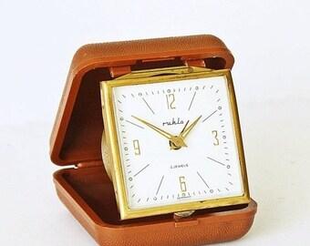 25% OFF ON SALE Alarm clock Ruhla from Germany, travel alarm clock