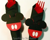 Custom Listing for Samantha - 24 Full Service Mickey Mouse Napkin Rings - Sept 4th Party Date