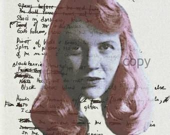 Sylvia Plath Handwritten Ariel Poem Minimalist Art Print
