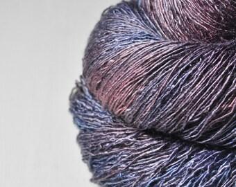 Dreaming in Morpheus' arms - Tussah Silk Fingering Yarn