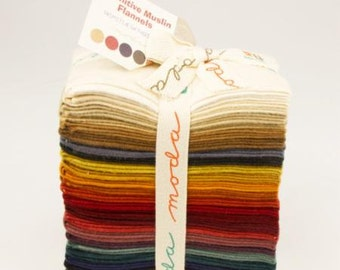 Primitive Muslin Flannel Fat Eighth Bundle from Moda and Primitive Gatherings