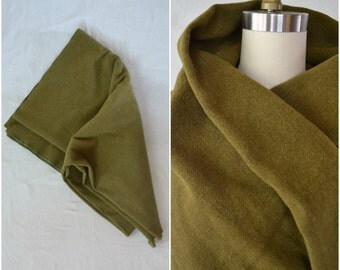 vintage army green wool blanket / military supply housewares winter throw blanket