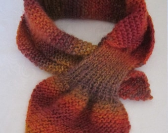 Knitted Ascot Scarf / Bow Scarf /Seasonal Must Have