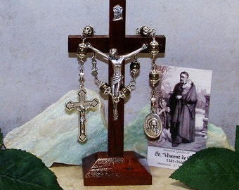 Unbreakable Catholic Chaplet of St. Vincent de Paul - Patron Saint of Charities, Hospital Workers and Volunteers