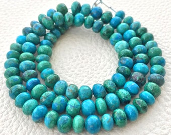 AAA Quality Brand New, 8 Inch Strand, CHRYSOCOLLA Smooth Rondelles,5-6mm size,Superb Polished Smooth