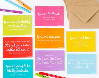 Cards of Encouragement Set – Postcards – Notelets – Note Cards –Good Luck Cards – Love Notes