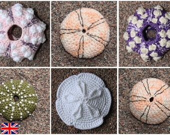 Sea Urchin - crochet pattern, PDF in English, Deutsch