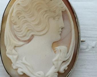 Antique Art Nouveau Cameo Brooch