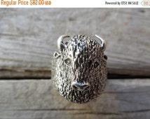 ON SALE Buffalo ring handmade in sterling silver