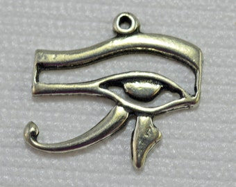 Protective eye pendant, silver plated, 25x20mm - #1989