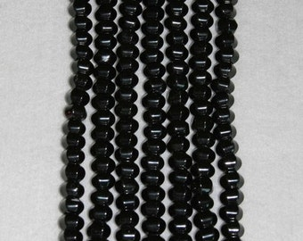 Onyx, Black Onyx, Onyx Pentagon Bead, Onyx Cushion Bead, Natural Stone, Semi Precious, Half Strand, 11mm, 24 beads