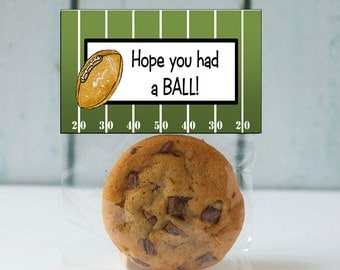 Football Treat Bag Toppers ~ Printable gift labels