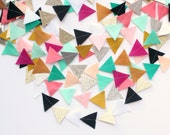 Custom Felt and Glitter Triangle garland: create your own/list colors at checkout