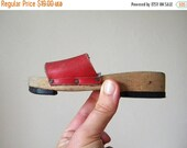 CLOSING 50% tiny french shoes vintage wooden leather childs shoes