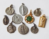 french medals 10 small religious pendant/ medals