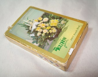 1950s REDISLIP KUHN Flowers Playing Cards Brown and Bigelow Company.