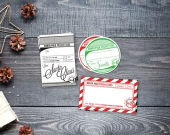 Printable tags -Elfspector trio - North Pole - Instant Download