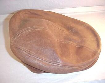Stetson Leather Newsboy Cap Size S/M