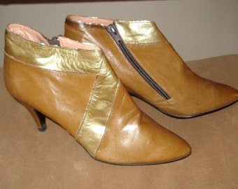 1970s New High Heel  Dressy Low Cut Boot Sz 7 B Made in Spain Perfect Condition Item# 39 Shoes