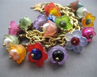 Girl's Bracelet - Flower Girl Bracelet - Children's Jewelry - Little Girl Bracelet - Flower Bracelet - Flower Girl Gift - Child's Bracelet