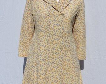 Vintage 60's vinyl lady coat raincoat floral SOALON coat MOD go-go size M by thekaliman