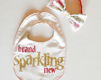 Baby Bibs with Pink Foil
