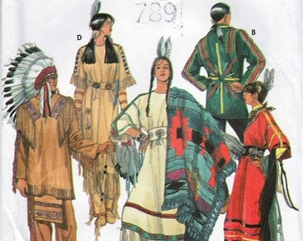 Simplicity 9142 Native American Adult Costume Pattern Men Women