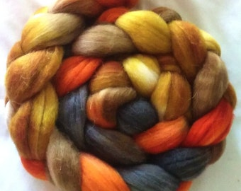 "Hand Dyed Sock Blend Combed Top 4 oz. ""Autumn"""