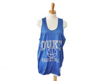Vintage 80s Duke Basketball Jersey // Champion // Men M, made in America