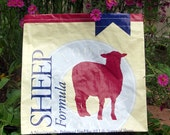 UNLINED Feed Sack Tote - SHEEP - Grocery/Gift/Reusable