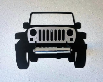 Jeep, 4x4, Wall Decor, Car Art, Toilet Paper Holder, Bathroom, Man Cave, Garage, Automotive