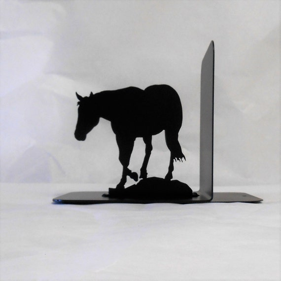Horse Silhouette Single Metal Art Bookend