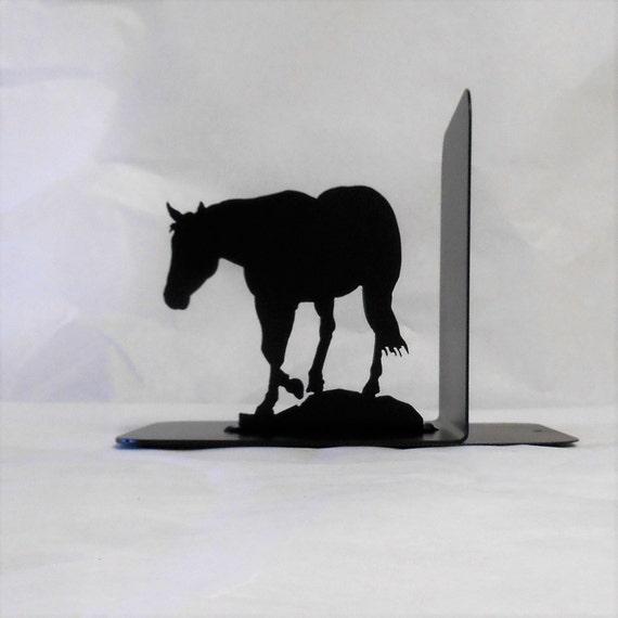 Horse Silhouette Single Metal Art Bookend