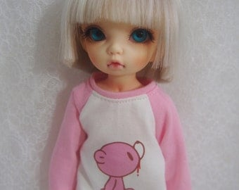 Super Dollfie Yo SD Littlefee Pink Sweater B - Pink Bear