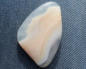 Botswana Agate  cabochon - Great buttery colored African agate, 43 X 29 X 3 mm
