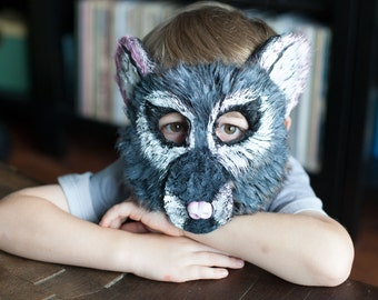 Child Sized Mouse Mask, Rat Mask, animal mask, handmade, child costume, templeton, nutcracker costume, child mask, mouse mask, mouse costume
