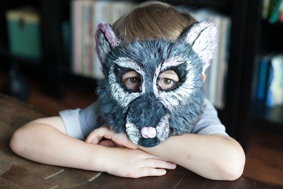 Child Sized Mouse Mask, Rat Mask, animal mask, handmade, child costume, templeton, nutcracker