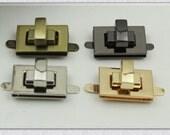 1pcs 1 inch gunmetal finsh, antique brass finsh, gold finish, nickel finish twist-locks Purse Flip Locks puse locks