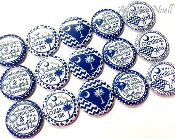 """South Carolina, 1"""" Button, South Caronlina Button, South Carolina Pin, Patch, Pins, South Caronlina Flatback, South Cackalacky, Cackalacky"""