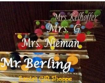 TEACHER GIFT, Desk Name plate,Back to School, End of School Gift, Christmas gift, desk name plate, acrylic name desk plate,Valentine'sDay