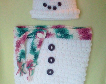 Snowman Cocoon, Baby Snowman Cocoon, Infant Snowman Cocoon, Snowman Wrap, Snowman Blanket