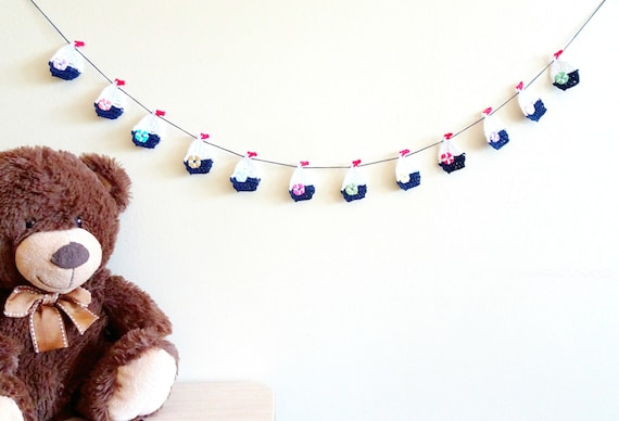 Nautical banner crochet sailboat garland nautical by for Anchor decoration runescape