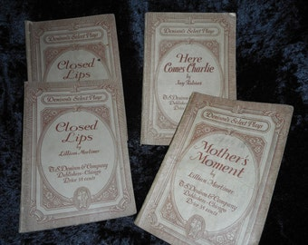 Four 1930's Play Scripts, three titles (FFs1093)