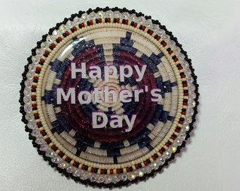Native American Made Beaded Mothers Day Pin