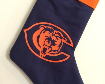 Chicago Bears Christmas Stocking can be personalized