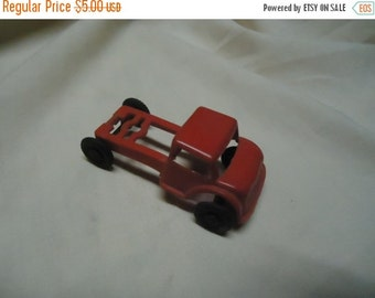 Valentines Sale Vintage Plastic Red Toy Truck with no Bed, collectable